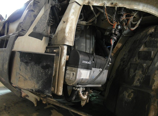 Установка предпускового подогревателя Eberspacher Hydronic D4W SС на Citroen Jumper Установочный центр ЭлитГаз